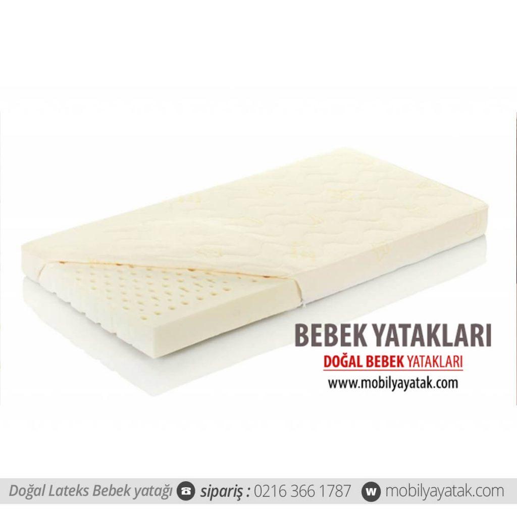 Dogal lateks bebek yatağı