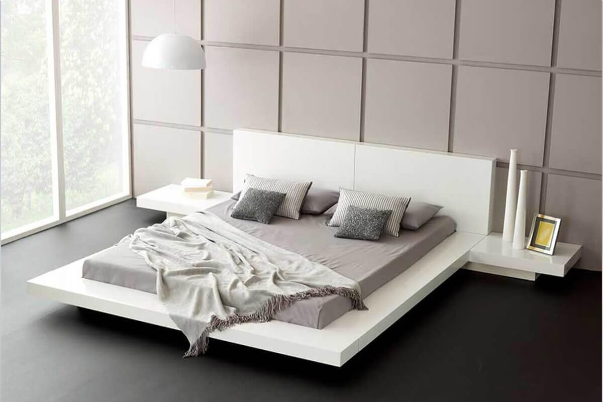 Beyaz japon karyola yatak