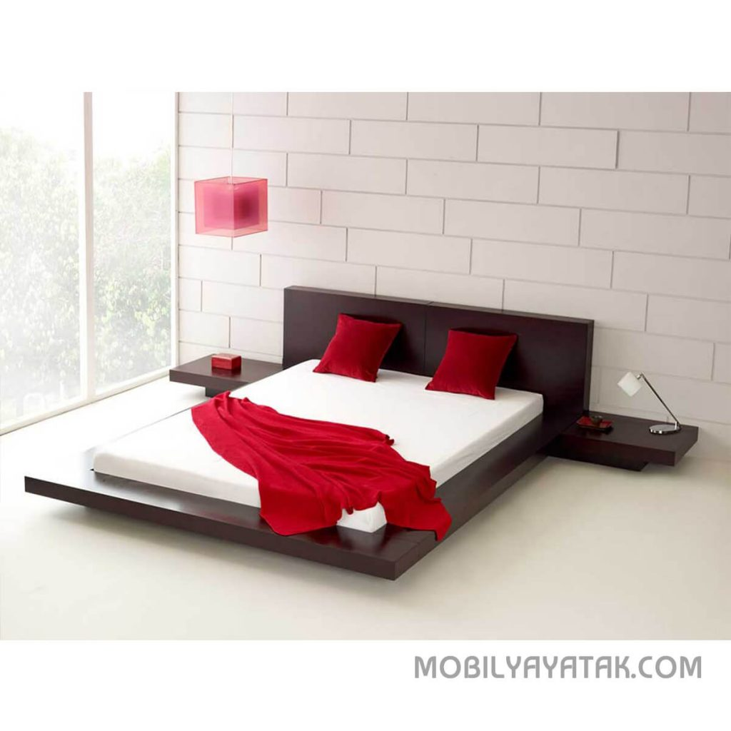 Venge siyah alçak yatak modelleri